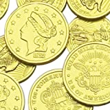 Assorted Liberty Gold Coins Solid Milk Chocolate 1 Pound