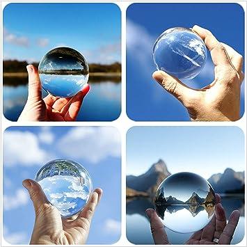 DE 80// 100mm Fotokugel Glaskugel klar Kristallkugeln Fotografie Kristallglaskuge