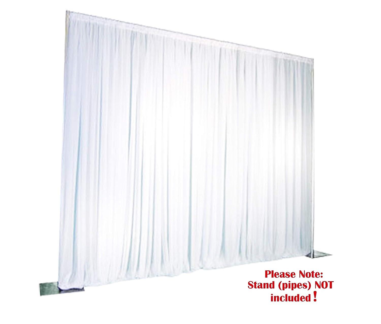 Weißszlig;es HinterGründtuch, drappiert, tragbares Hochzeitsbühnen-Kit, HinterGründ für Fotostudio 4 x 4m Weißszlig;  3 x 3m