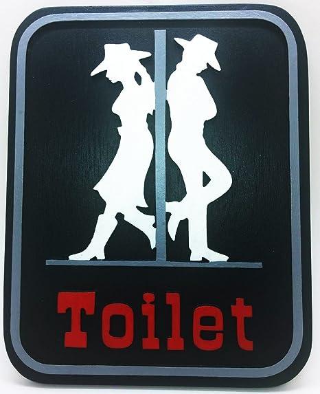 RESTROOM Bathroom Shabby SIGN Bath Mens Womens WOOD Plaque U Pick Color Unisex