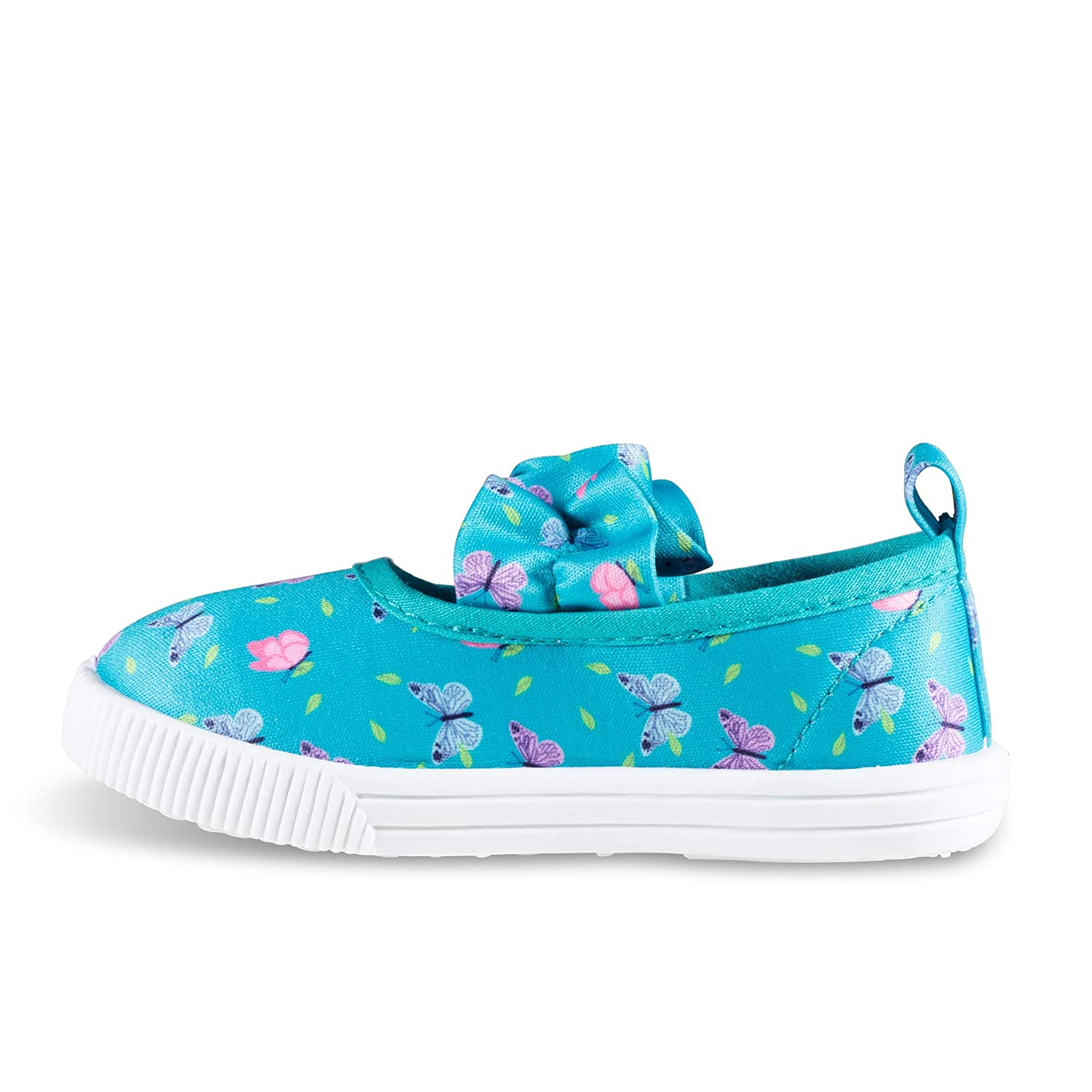 Girls Mary Jane Sneakers Easy Close Casual Canvas Shoes Toddler Sizes 5-10