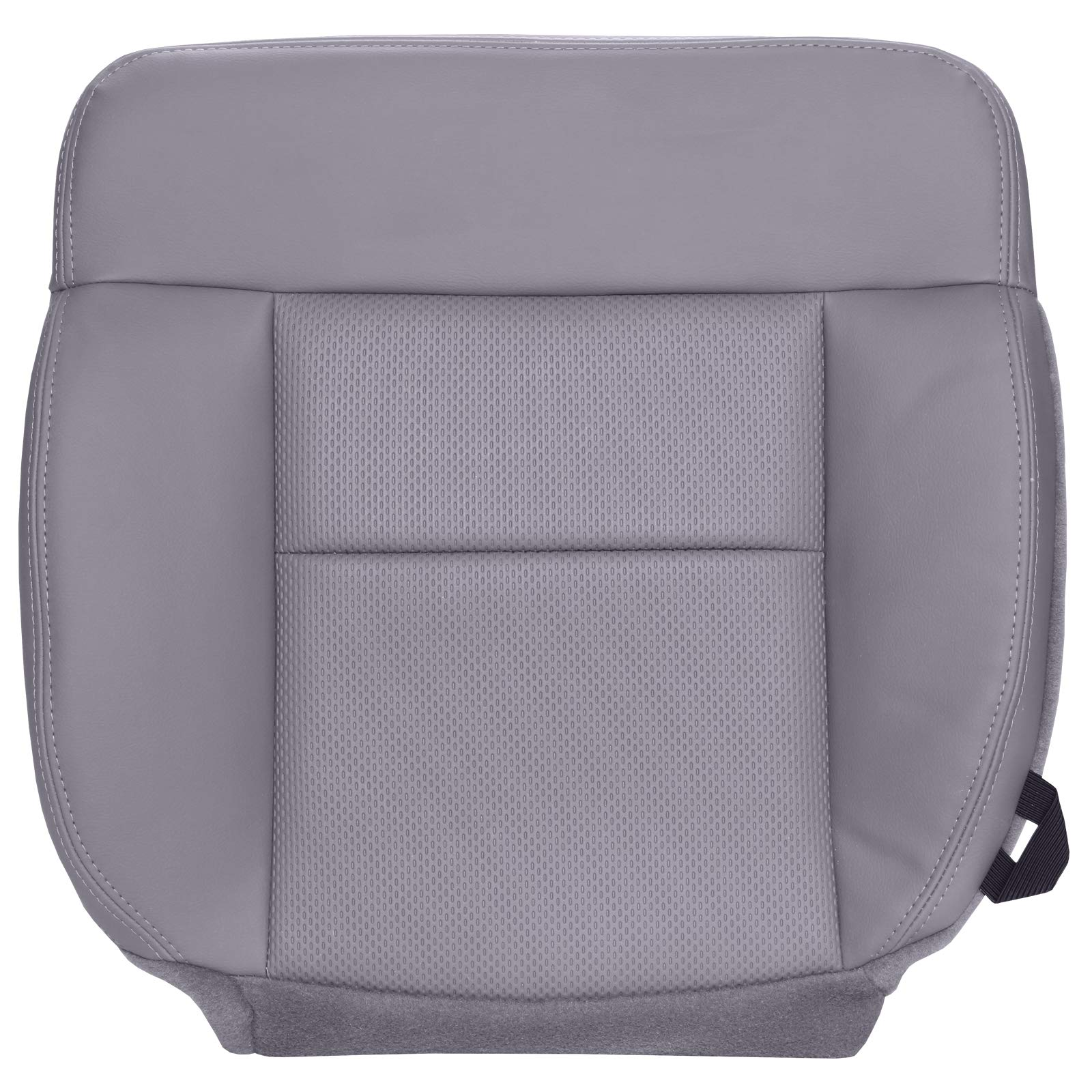 The Seat Shop Driver Bottom Replacement Vinyl Seat Cover - Medium Flint Gray (Compatible with 2004-2008 Ford F150 XL Work Truck)