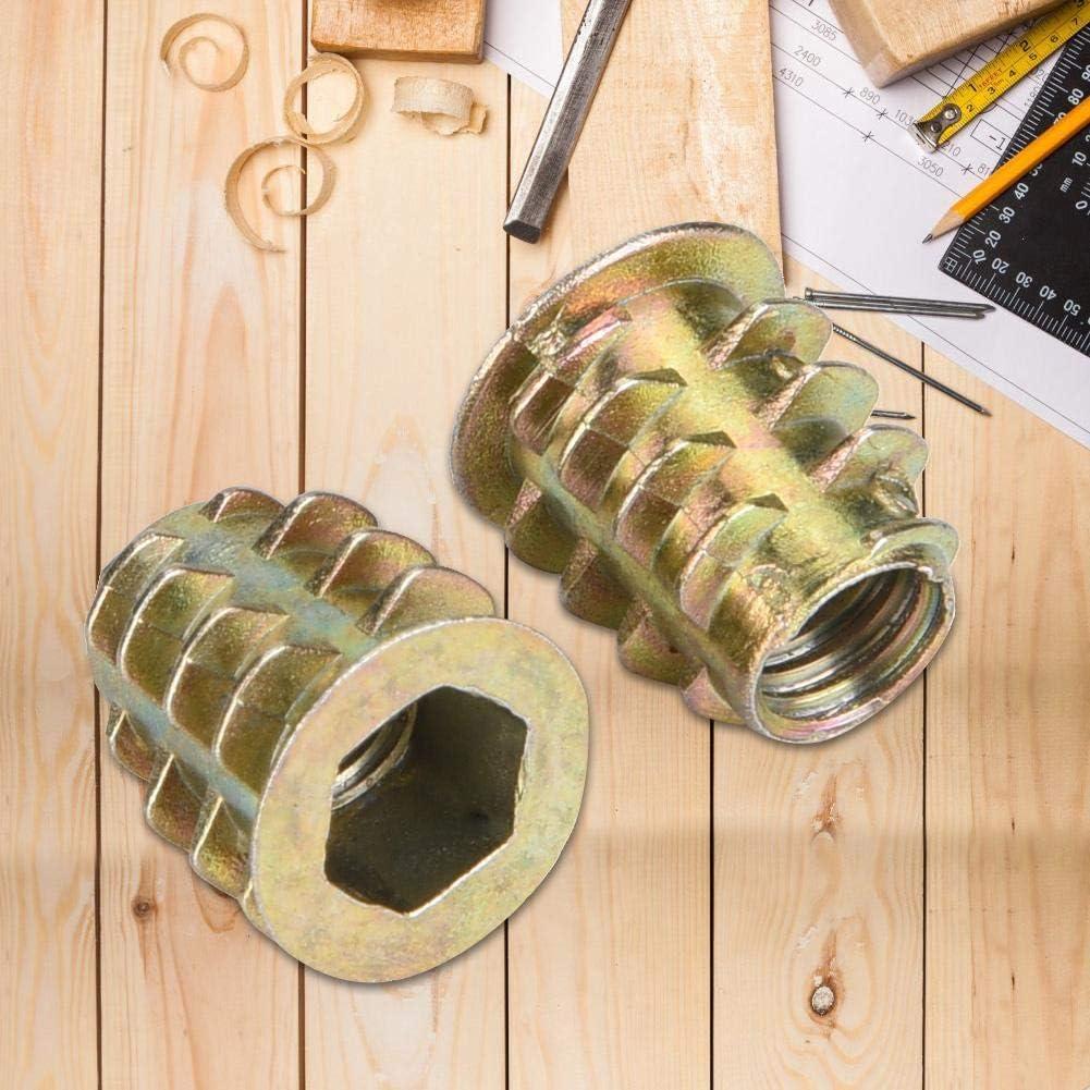 M5 M10 Aleaci/ón de zinc Tornillo Tipo de unidad hexagonal Tuerca de inserci/ón roscada Kit de surtido Herramientas para mejoras del hogar M8 M6 50 piezas M4