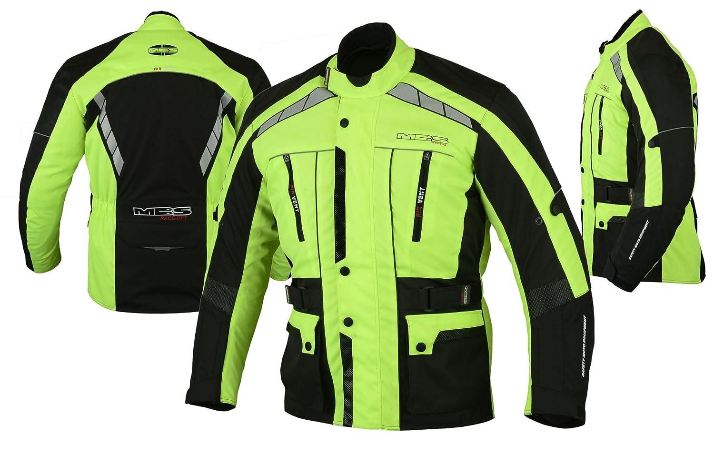 amarillo, S MBS MJ21 James Motocicleta Motocicleta larga chaqueta de viaje textil