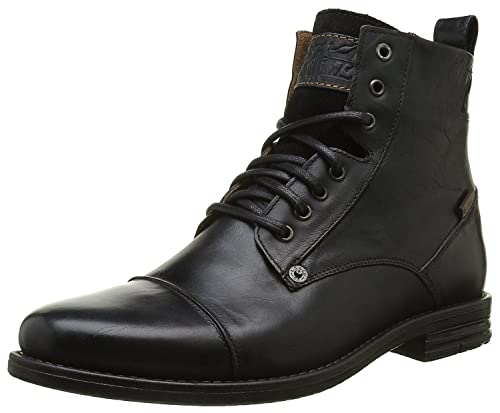 Levi s Emerson Nero Uomo Pelle Mid Vitello Army Stivali  Amazon.it ... 38983675656