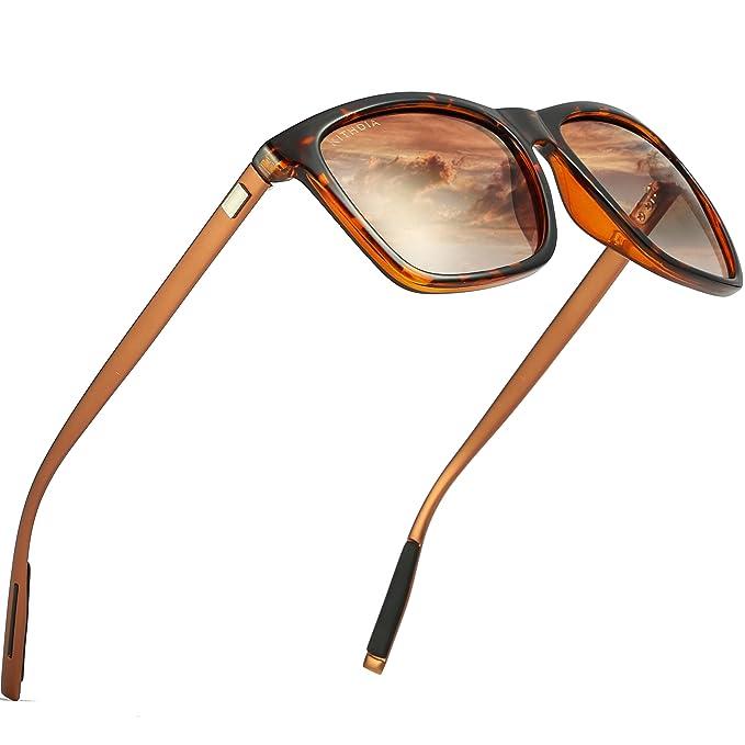 1d8492f634 KITHDIA Gafas de Sol Polarizadas Unisex Protección UV400 para hombres y  mujeres Conducir Pescar Ir en bicicleta Esquiar Golf Aire Libre Viajes  Playa ...