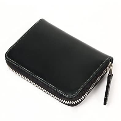 eadfa3bd93e6 MURA コインケース 小銭入れ ブライドルレザー メンズ 本革 ファスナー 緑の財布 (グリーン
