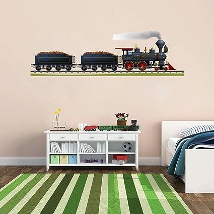 Cik177 Full Color Wall Decal Locomotive Train Railroad Track Childrenu0027s Bedroom  sc 1 st  Amazon.com & Amazon.com: Cik177 Full Color Wall Decal Locomotive Train Railroad ...