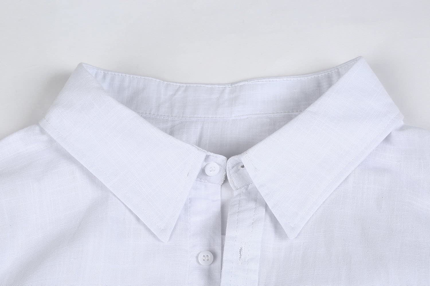 Mens Linen Button Up Shirts Casual Long Sleeve Loose Fit Beach Shirts