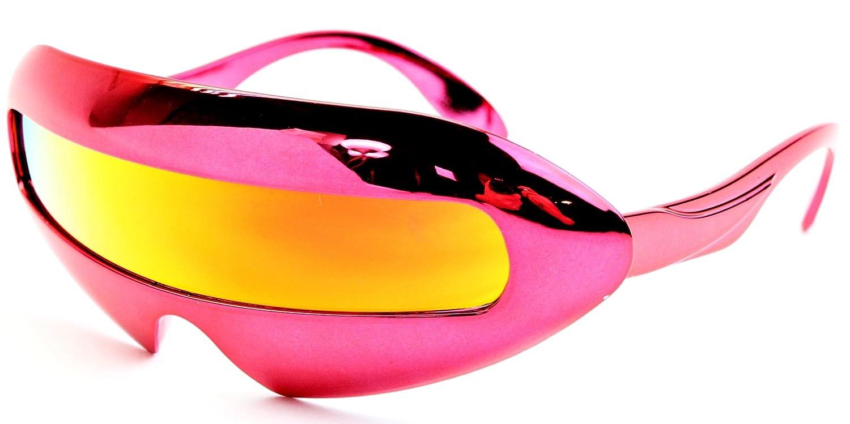 62e6da1d264a Amazon.com: V160-vp Style Vault Robot Space Party Sunglasses (B1655F  Blue-Silver Mirror, mirrored): Clothing