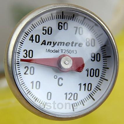 BiiYo New Stainless Steel Kitchen Food Cooking Milk Probe Temperature Thermometer