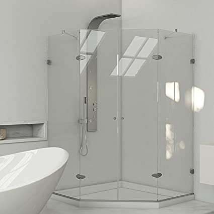 Bon Frameless Neo Angle Shower Enclosure With .