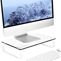 Clear Computer Monitor Stand Riser Multi Media Desktop Stand for Flat Screen LCD LED TV, Laptop/Notebook/Xbox One, with…