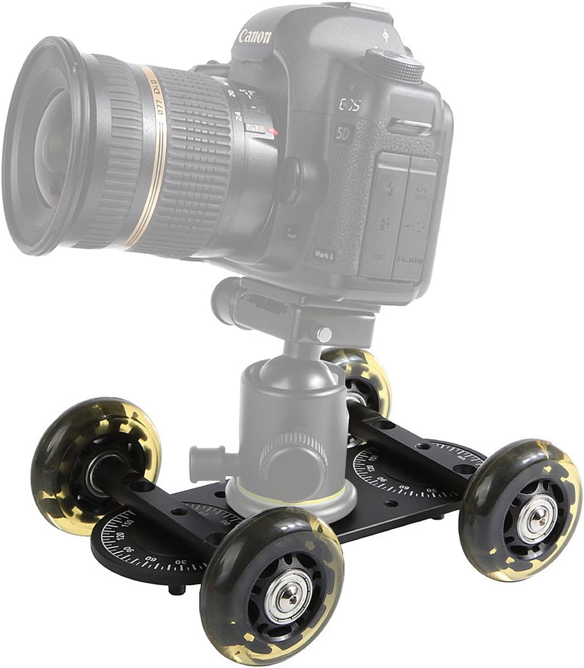 Sevenoak Deslizamiento 360 ° estabilizador de vídeo cámara Dolly ...