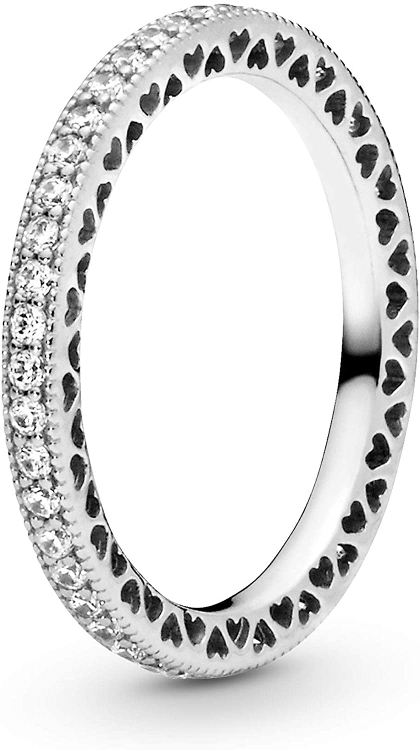 Pandora Jewelry - Sparkle and Hearts Ring for Women in...