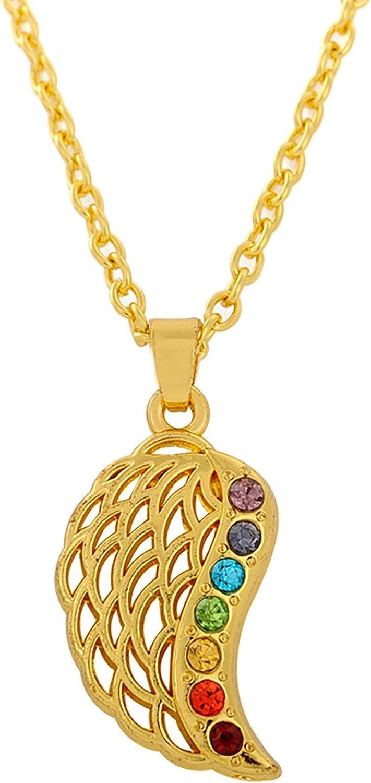 Dawapara Ailes dange 7/Chakras Reiki Hindou Mandala Pendentif Bouddha Collier Cadeaux Bijoux pour Homme ou Femme