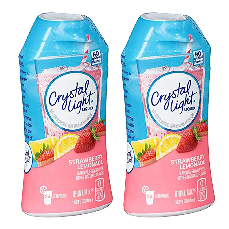 Crystal Light Liquid Drink Mix, Strawberry Lemonade, 1.62 OZ (Pack of 2)