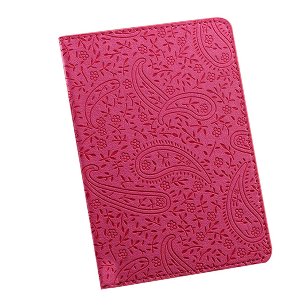 Gilroy Travel Faux Leather Lavender Print Passport Case Cover Holder