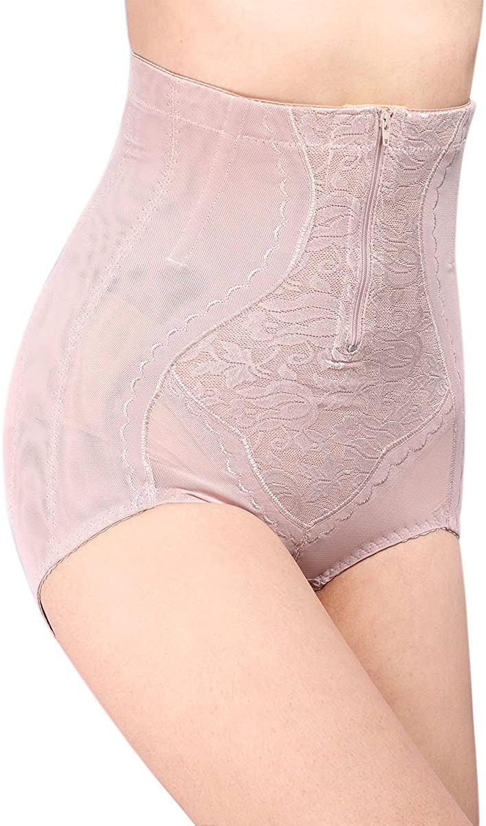Defitshape Womens Tummy Control Shaper Panty Waist Cincher Girdle Zipper Closure Shapewear
