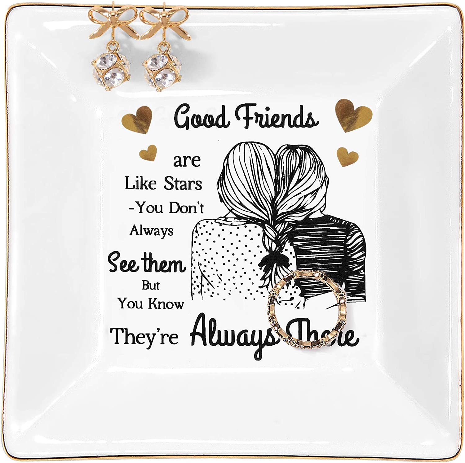 HONZZ Gifts for Women Coworker Female Friend Thank You Gift for Birthday Friendship Gifts Customized Gifts for Best Friends Under 10 Dollars Inspirational for Woman Thinking of You Present