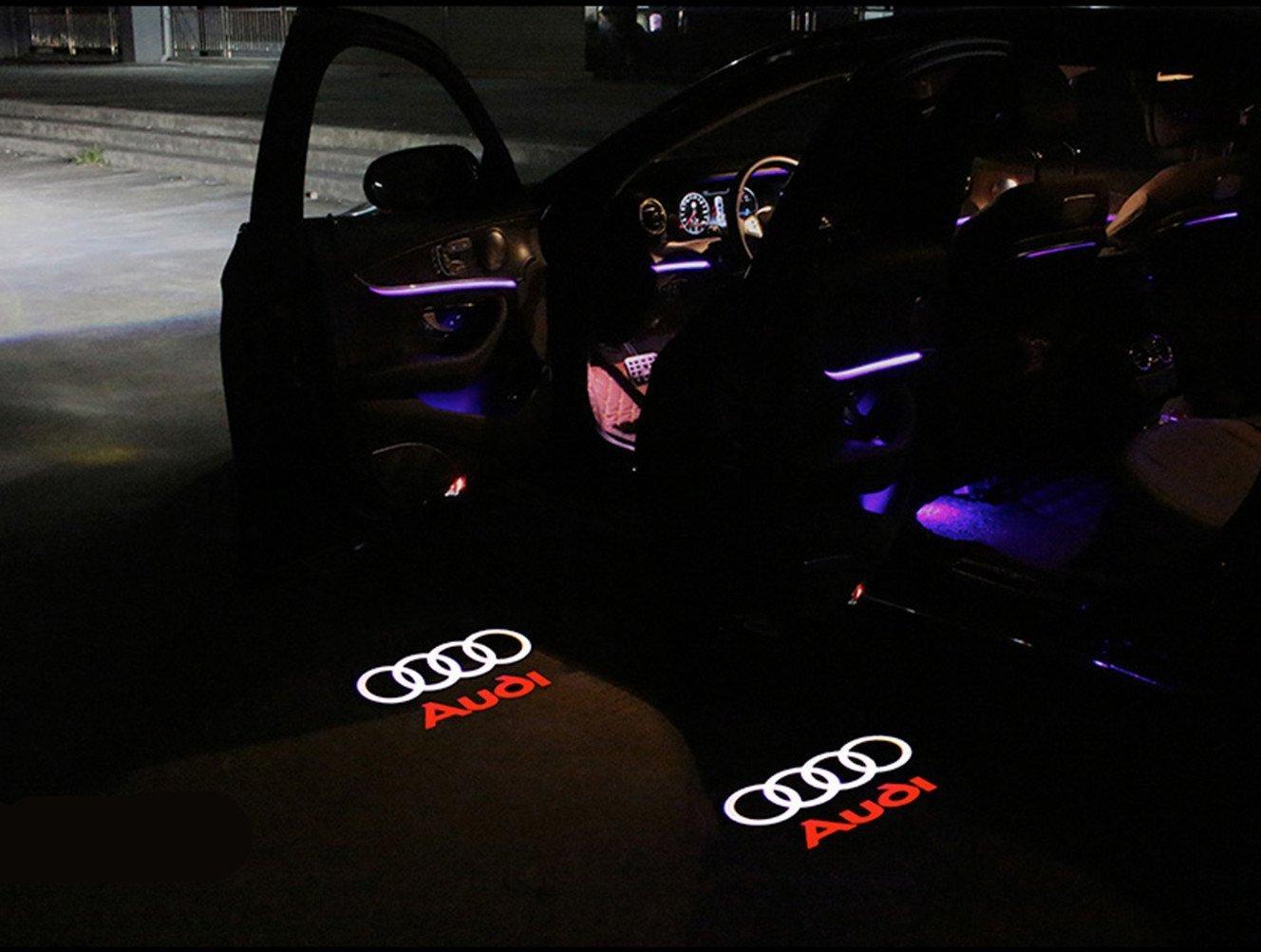 /Éclairage Int/érieur HD Projecteur Porte Voiture Logo D/éclairage pour A8 A6L A5 A6 A4L A4 A1 R8 Q7 TT