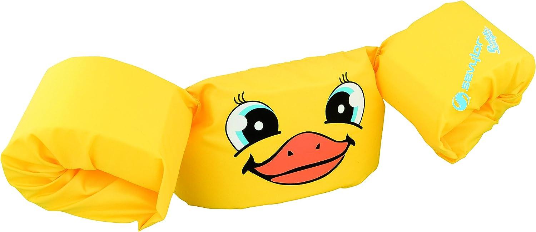 Sevylor Puddle Jumper, Manguitos bebé para Aprender a Nadar, para niños de 2 a 5 años, De 15 a 30 kg de Peso, Amarillo