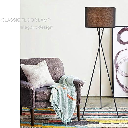 Tripod Floor Lampcreativity Floor Lamps Warm Black Drum Lampshade