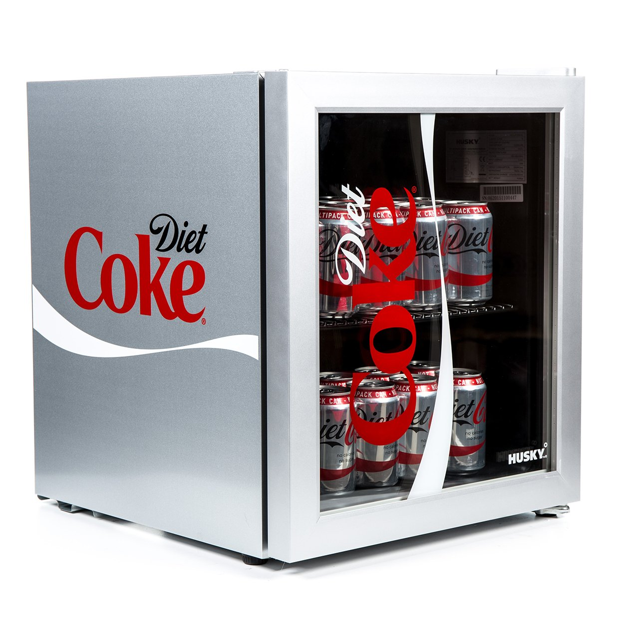 Husky HUS-HY209-HU Diet Coke Design Glass Door - [Energy Class A+]