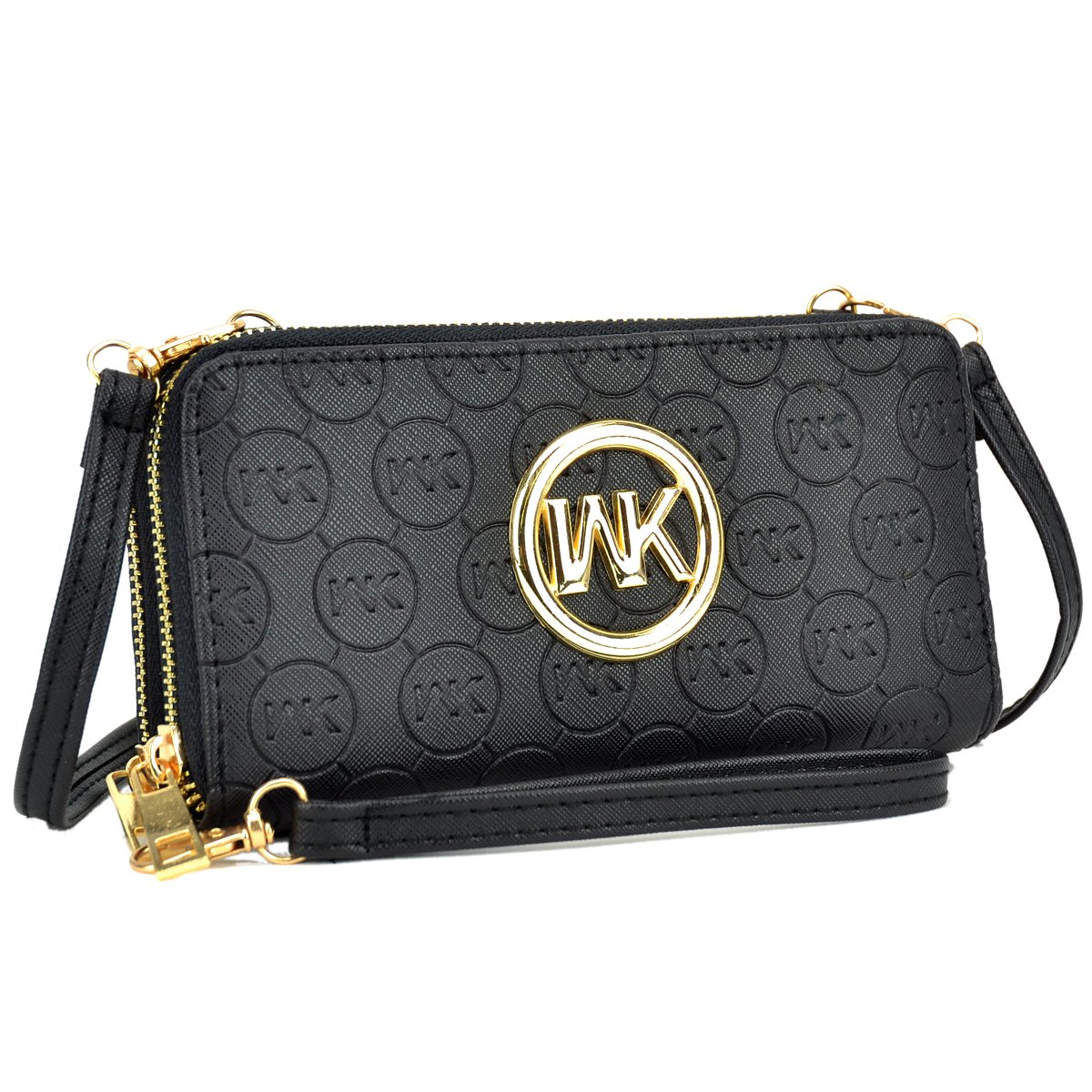 MKP Collection Card Case Wallets~Zip Around and Twist Lock Wallet. Wallet for woman,Wallet for all season.Fashion Wallet (MKP-JTC-W1062-BK)