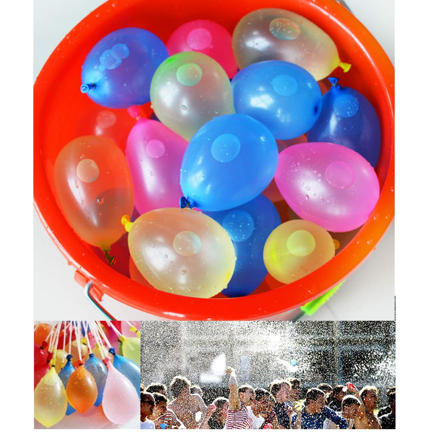 BBKING Water Balloons Multi Color Water Balloons for Kids Toys Summer Games Outdoor Game (8set-888pcs Water Balloons)