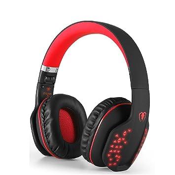 Beexcellent Auriculares Intrauditivos Bluetooth, Auriculares Estéreo Inalámbrico Plegable Bluetooth 4.1 de Alta Fidelidad Reducción de Ruido con Efecto LED, ...