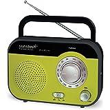 Sunstech RPS560GN - Radio de sobremesa (AM / FM, 800 mW RMS), color verde