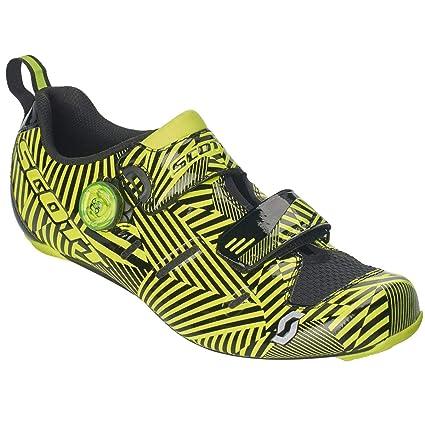 Scott Road Tri Carbon 2019 - Zapatillas de triatlón, Color Negro y Amarillo, 39