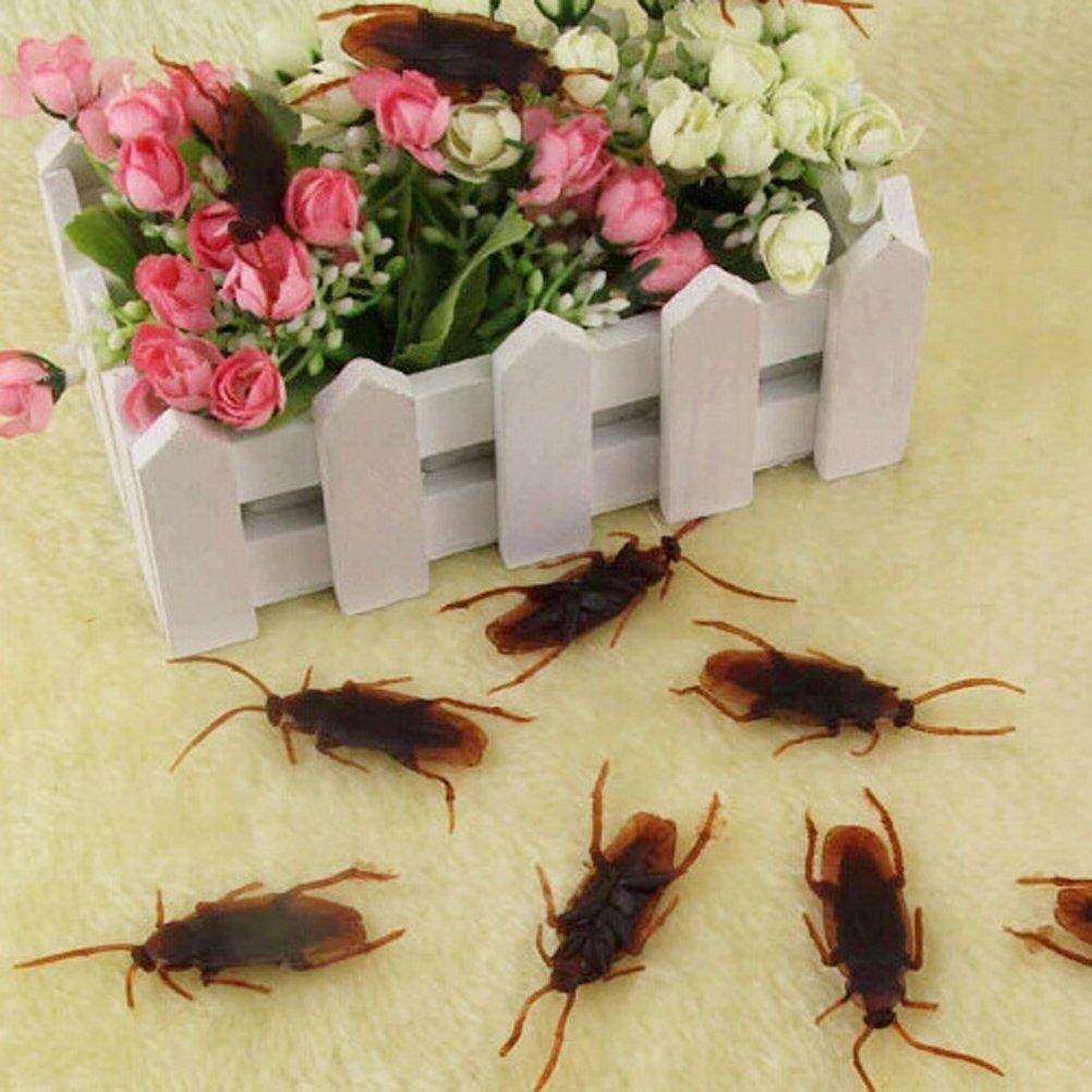 VORCOOL 50 st/ücke Gef/älschte Kakerlaken Kunststoff Realistische Bugs f/ür Halloween Party Favors Dekorationen