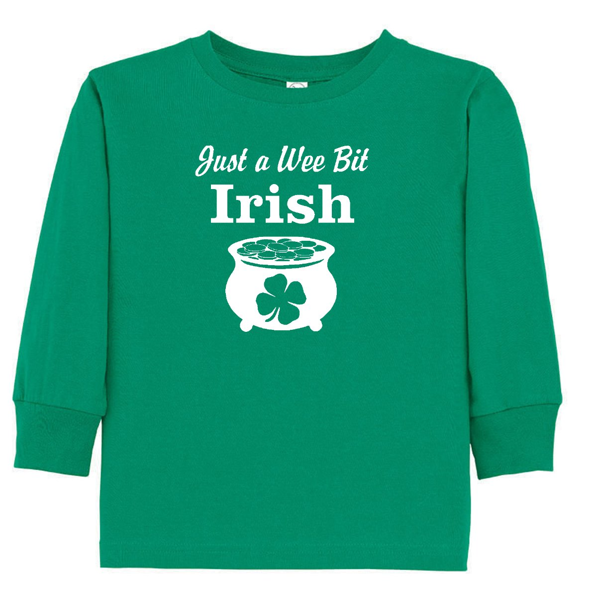 Rocket Bug Just a Wee Bit Irish ST Patricks Day Toddler//Youth T-Shirt