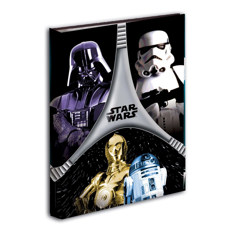 Star Wars - Carpeta anillas, color negro y gris (Montichelvo 40724) archivador galaxias guerra
