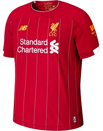 2e7259d553a New Balance Men's Official Liverpool FC 2019/20 Home Ss Jersey S/s Top