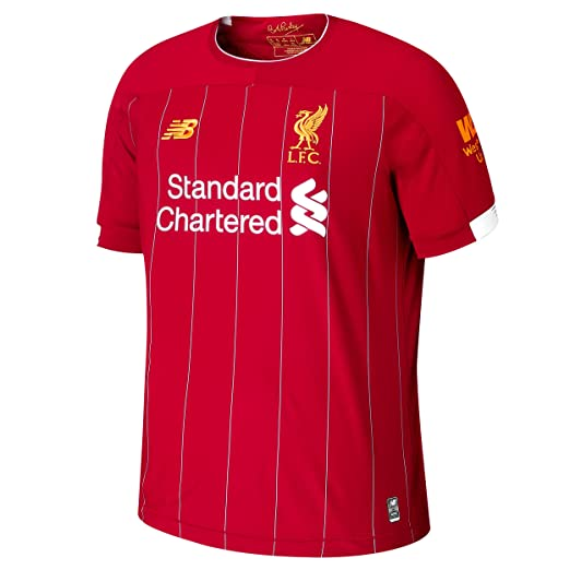 51f5d9cac2cc0 Amazon.com: New Balance Liverpool 19/20 Home Jersey: Sports & Outdoors