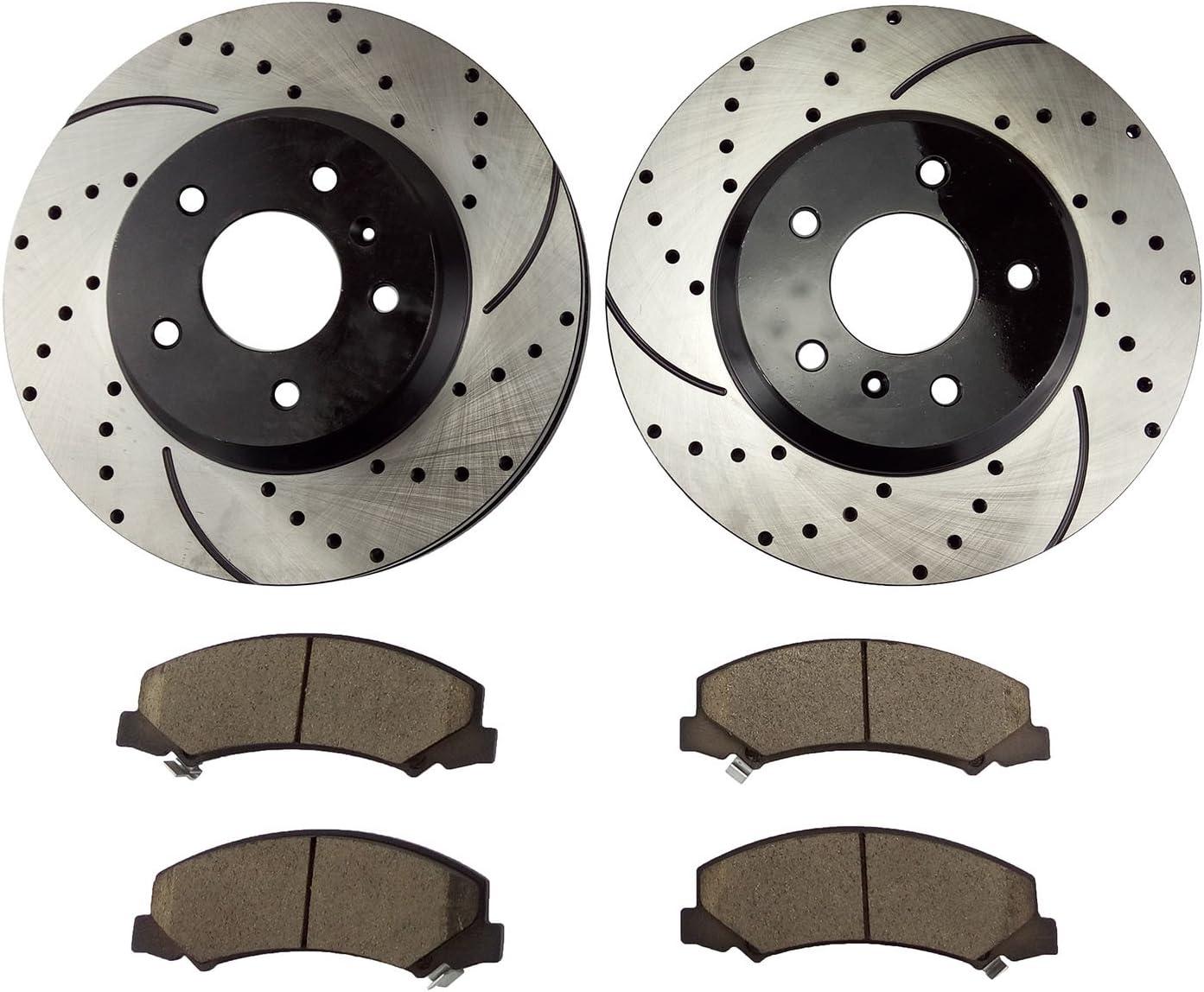 2006 2007 2008 2009 2010-14 Chevrolet Impala Front Brake Rotors Ceramic Pads
