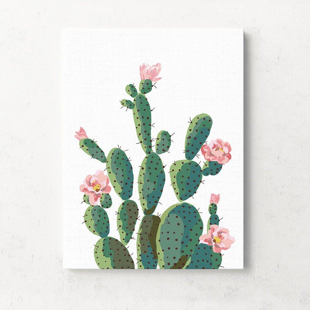 Canvas Wall Art Decor Framed Tropical Cactus 9.8