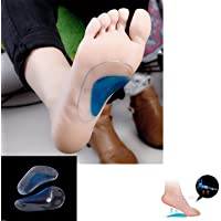 PEDIMEND™ Medicated Silica Gel FLAT FOOT ARCH SUPPORT INSOLES – Plantar Fasciitis Relief Cushions/Fallen Arches – Heel Spurs/Metatarsal Pads/Morton's Neuroma Orthopedic Care/Shock Absorbers