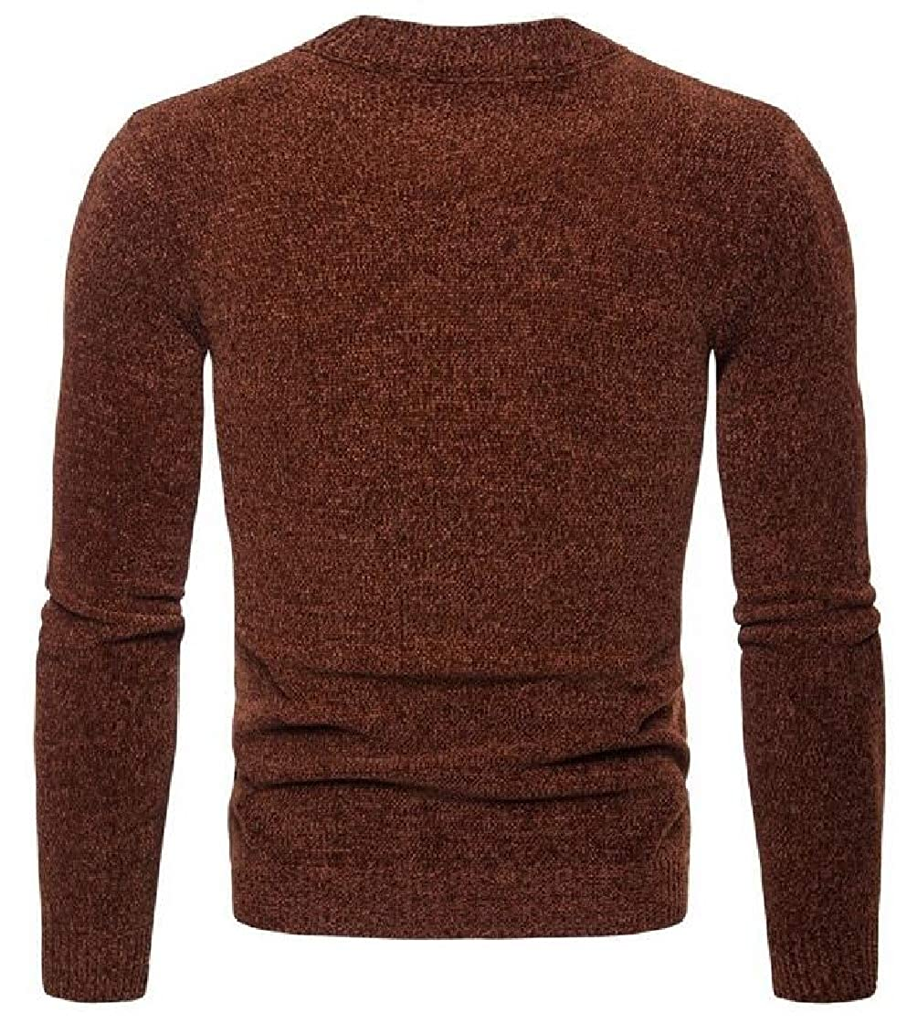 Yayu Mens Lightweight Premium Slim Fit Crew Neck Soft Fitted Pullover Sweater