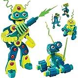 Bloco Toys Robot Invasion   STEM Toy   5 DIY Robots   Modular Building Construction Set (225 Pieces)