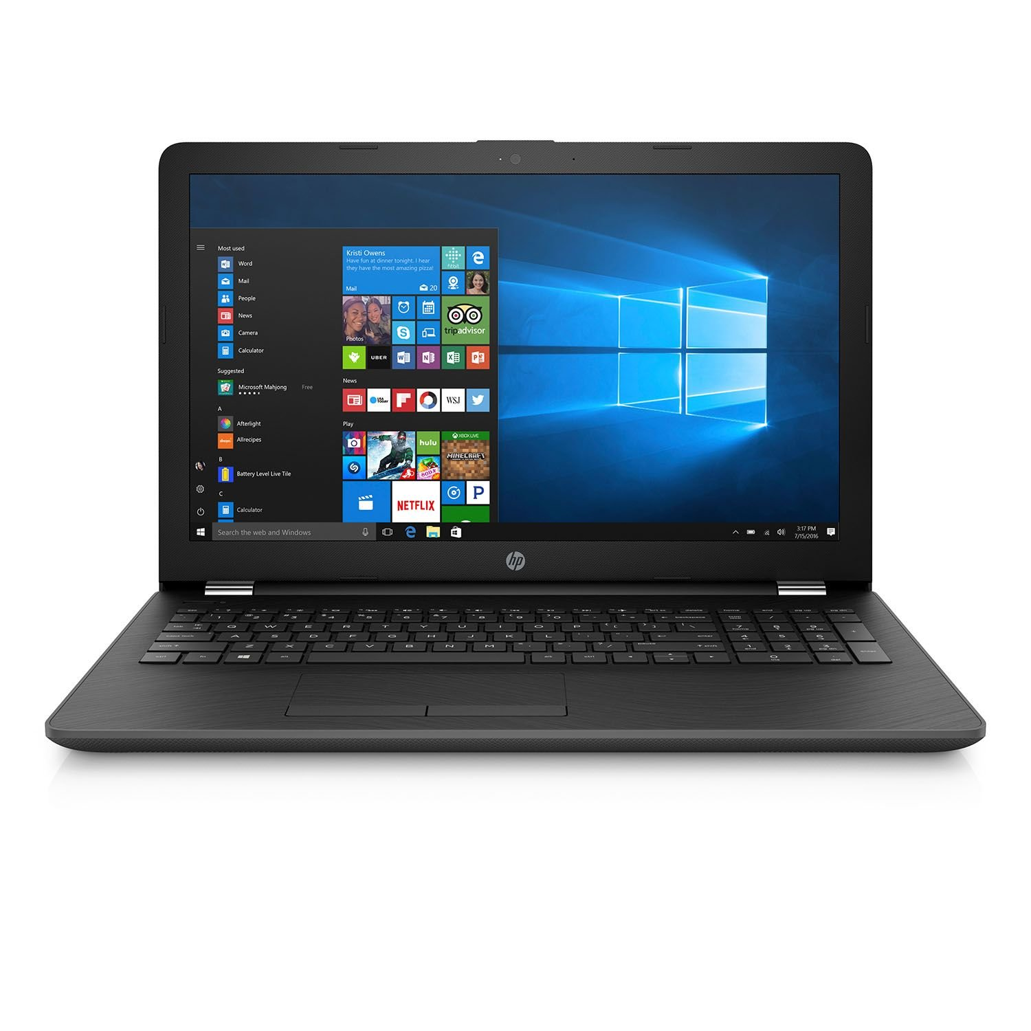 2017 HP Notebook 15.6 Inch High Performance Laptop Computer (Intel Core i7-7500U 2.7GHz up to 3.5GHz, 8GB RAM, 512GB SSD, DVD, WiFi, HD Webcam, ...