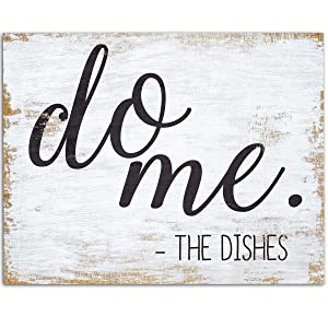 Do Me - The Dishes - 11x14 Unframed Art Print - Great, Funny Kitchen and Dining Room Decor Under $15