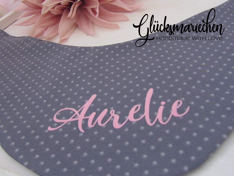 - personalisiertes Dreieckstuch Babyhalstuch optional mit Name Halstuch Babyshower Babyausstattung Jersey
