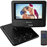 DBPOWER 7.5-Inch Portable DVD Player with Rechargeable Battery, SD Card Slot and USB Port - Black