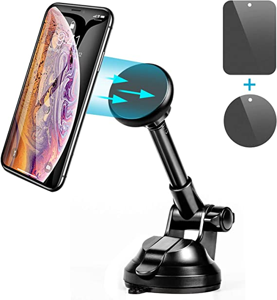 Compatible with iPhone Xs Xs Max Xr X 8 8 Plus 7 6 Plus Untoom Universal Car Phone Holder Strong Magnet Car Mount for Windshield and Dashboard Samsung Galaxy S9 S8 S7 Note 9 8 Magnetic Phone Mount