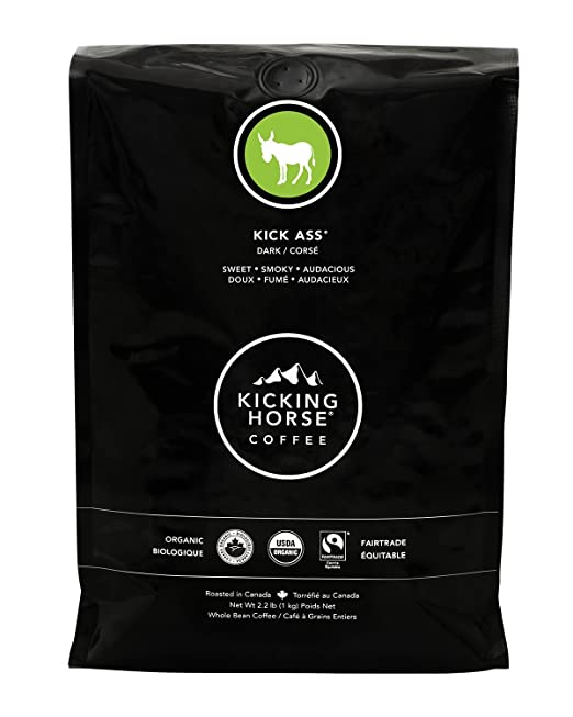 Kicking Horse Coffee, Kick Ass, Dark Roast, Whole Bean, 2.2 Pound