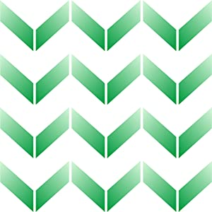 Chevron Wall Stencil, 10 x 10 inch (M) - Classic Large Allover Pattern Wallpaper Geometric Stencils for Painting Template